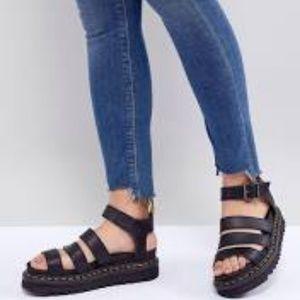 Dr Martens Blaire Vegan Sandals Black Size 11 NWT